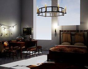 Furniture set October 3D asset