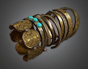 TRS - Ancient Treasure Bangle 01 - PBR VR / AR ready 2