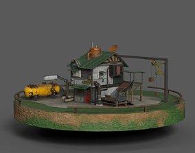 3D asset Dock House Diorama