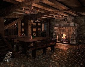 Medieval City Tavern 3D model