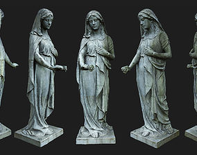3D asset Statue of Sorrow PBR