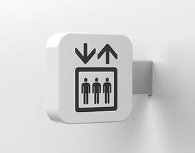 elevator sign 3D model