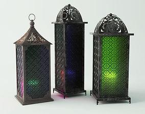 3D Standing Metal Lanterns