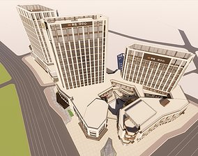 3D Commercial buildings Commercial streets and office