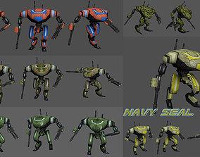 Navy Seal Team 3D asset