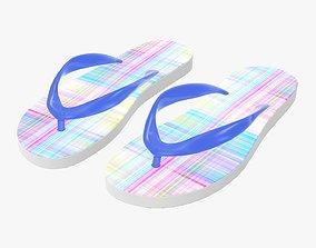 3D model Flip-flops woman summer beach footwear 03