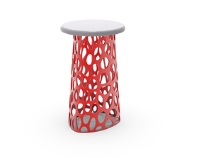 3D model Display table and stool