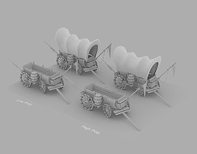Cartoon Wagon 3D model