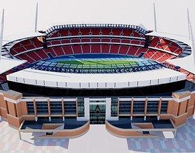 Stadium 2 fictional 3D model low-poly
