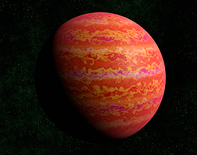 3D model Red gas giant 2