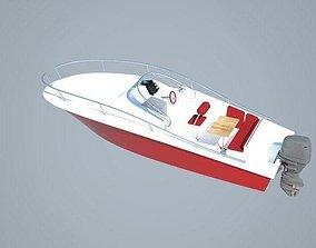 6m pleasure boat 3D asset