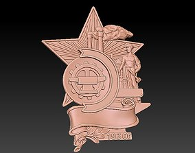 Badge Man worker 3D print model