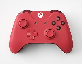 Xbox One Red Edition Controller 3D model