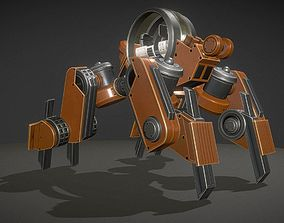 3D asset Terrain Walker Orange Version Rigged and Animated