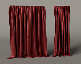 Curtain 3D Asset VR / AR ready