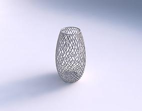 3D print model Spacious vase with lattice tiles