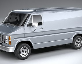 3D Generic American Van 1970