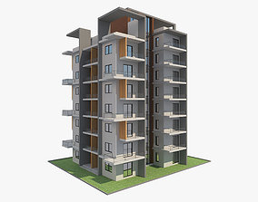 Apartment Building 9 3D model