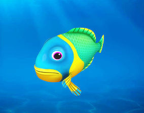 3D Cartoon Fish11 Rigged Animated