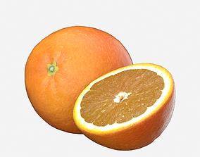 Orange Fruit 3D model Photoscan game-ready