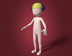 Cartoon Boy - Stickman 3D model