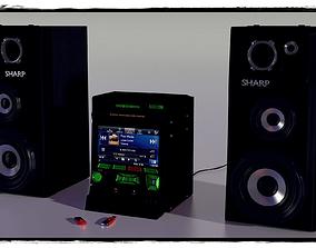 Stereo System 3D model