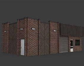 3D model realtime Car Workshop Building