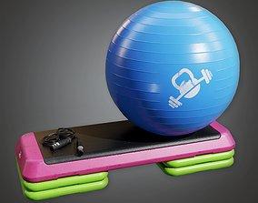 Gym Yoga Set 01a - SAG - PBR Game Ready 3D asset