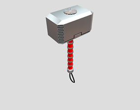 Thor Mjolnir 3D model low-poly