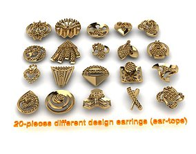 3D print model 20-pieces earrings-0021-0040