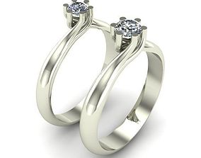 jewelry ring 3D print model ENGAGEMENT RING