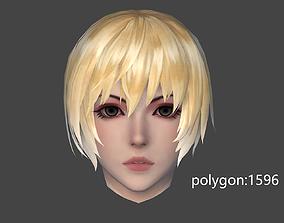 girl hair style 17 3D model