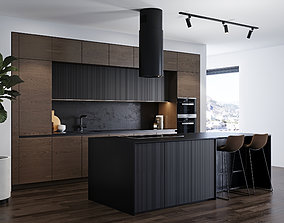 3D Modern kitchen 4