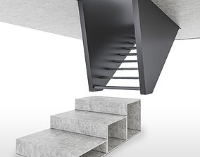 3D model suspended stair