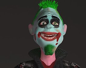 3D model animated cartoon Clown