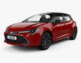 Toyota Corolla hatchback hybrid 2018 3D