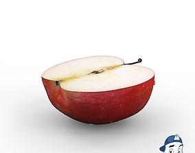Red Apple Half 3D