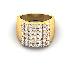 Men groom solitaire ring 3dm render detail gold