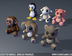 Cute Toy 3D Animal Models x 6 VR / AR ready