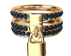 3D model character Gold Ring
