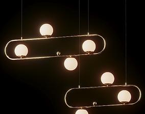 Modern Style 4 Light Linear - Big and Medium 3D