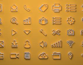 Web Icons 3D