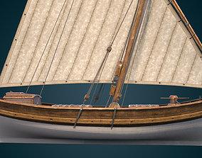 game-ready Leudo ship model