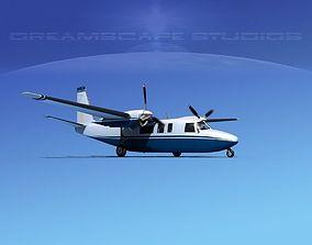 Rockwell Turbo Commander 690 V09 3D model