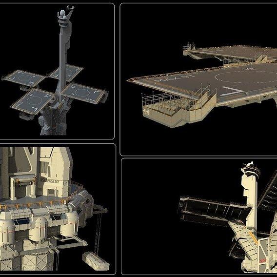 sci-fi landing platform 3