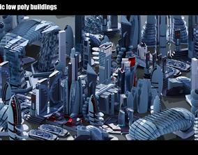 3D asset 35 Futuristic Buildings VOL 3