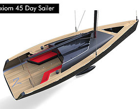 45 Day Sailer Boat 3D