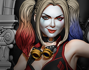 3D printable model Steampunk Harley Quinn
