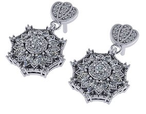Fashion Earring 3D printable model earrings