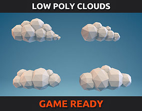 Low Poly Clouds Part 01 3D model